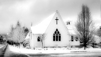 Snowy White Church